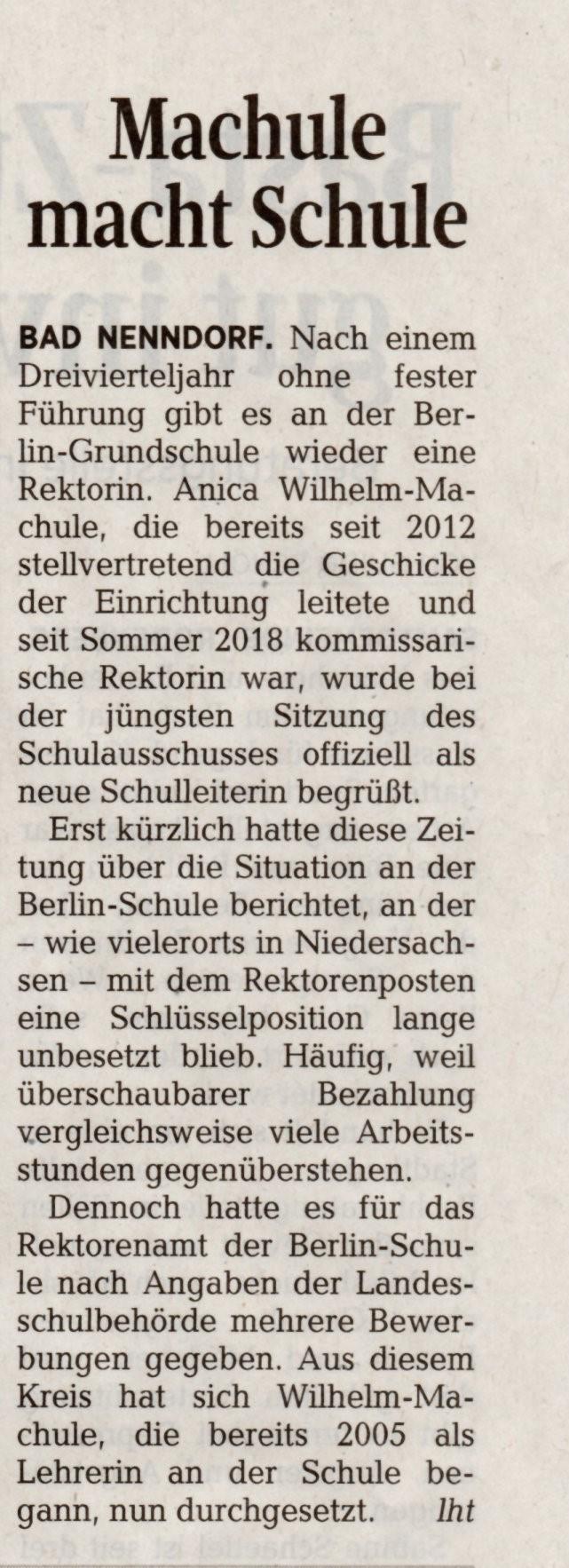 Schaumburger Nachrichten am 29.04.2019