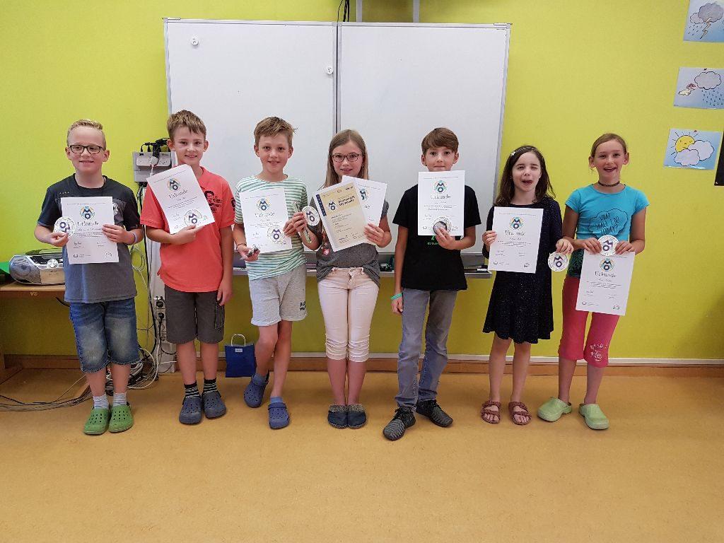 Teilnehmer der 2. und 3. Runde - 4. Klasse