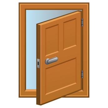 Door opened