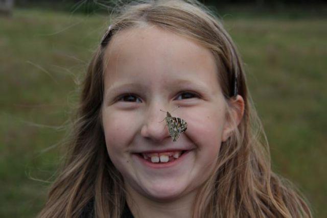 Schmetterling auf Nase - Kopie
