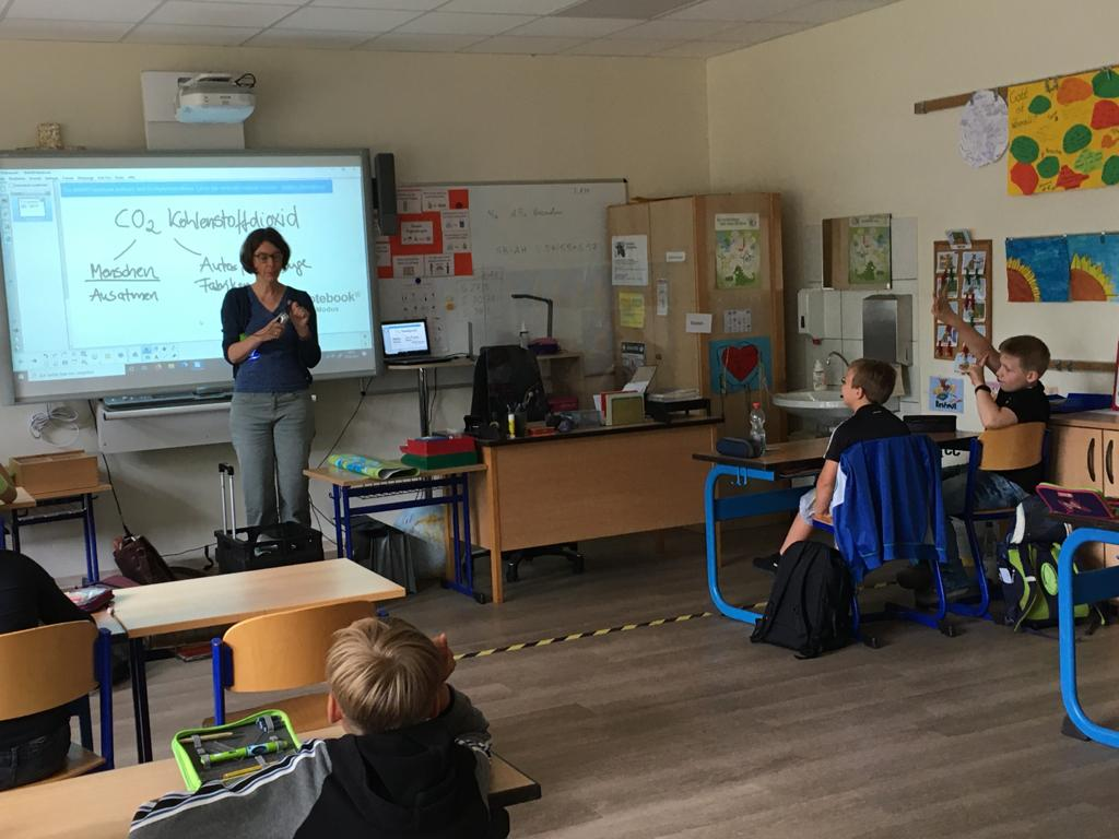 Energieschulunterricht mit Frau Klaffke ...