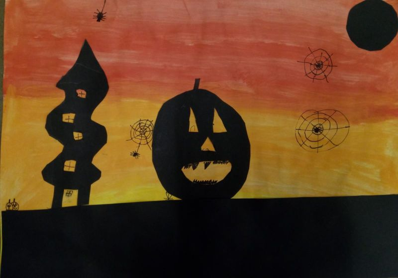 Klasse 4a Kunstunterricht Halloween Grundschule Salzgitter Thiede