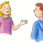 Gespräch unter Schülern