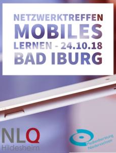 Plakat regionales Netzwerktreffen in Bad Iburg am 24.10.2018