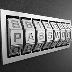 """Zahlenschloss mit dem Wort """"Passwort"""""""