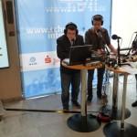 Live vor Ort im Landtag: Online-Radioteam der IGS Waldschule Egels.
