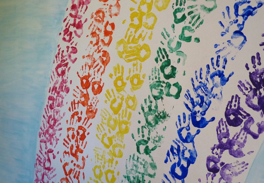 Kletterbogen Regenbogen : Regenbogenschule waake seite